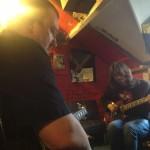 Recording guitars for Life Sentence - (c) First Avenue Studios